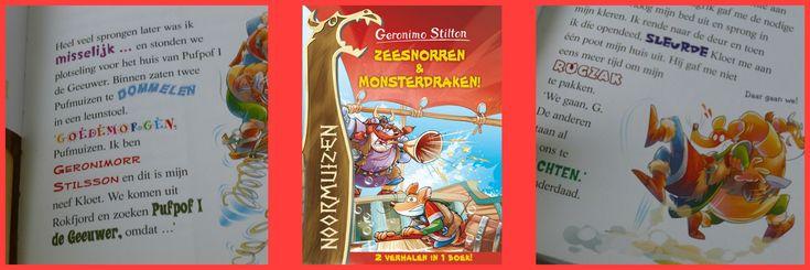 Met Zeesnorren en Monsterdraken haal je dubbel leesplezier in huis. Het boek bevat namelijk twee spannende en grappige verhalen over de Noormuizen!