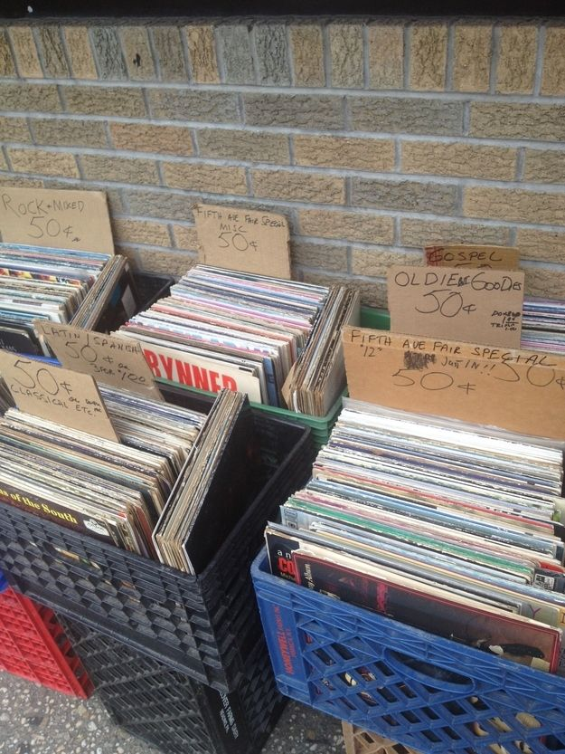 Or hey, a 50-cent bin! You can really luck out by digging through these things. | 36 Things Vinyl Collectors Love