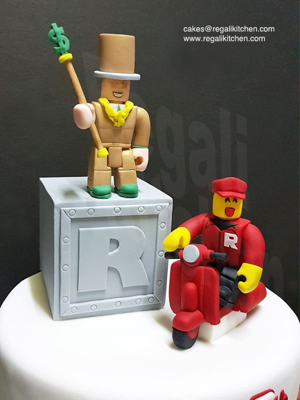 Roblox Cake Cake Toppers Mr Bling Bling On A Mystery Box And