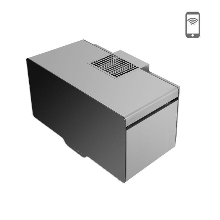 Okap kominowy Ciarko Design Cube 70 czarny http://www.sklep.ciarkodesign.pl/e-sklep/okapy-kominowe/cube-70-black-detail #DESIGN #KITCHEN #OKAP #HOOD