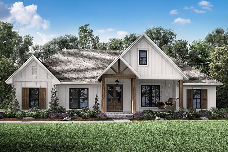 This Stunning 2 201 Sq Ft Modern Farmhouse Home Offers 3