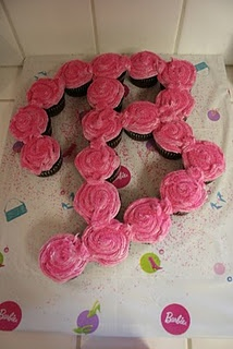 I did for my daughter's #birthday last year - #Barbie theme. #cupcakes