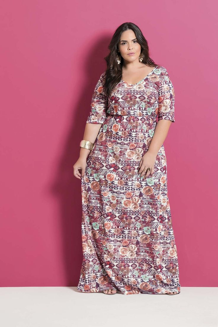 14 best VESTIDOS PLUS SIZE MARGUERITE images on Pinterest
