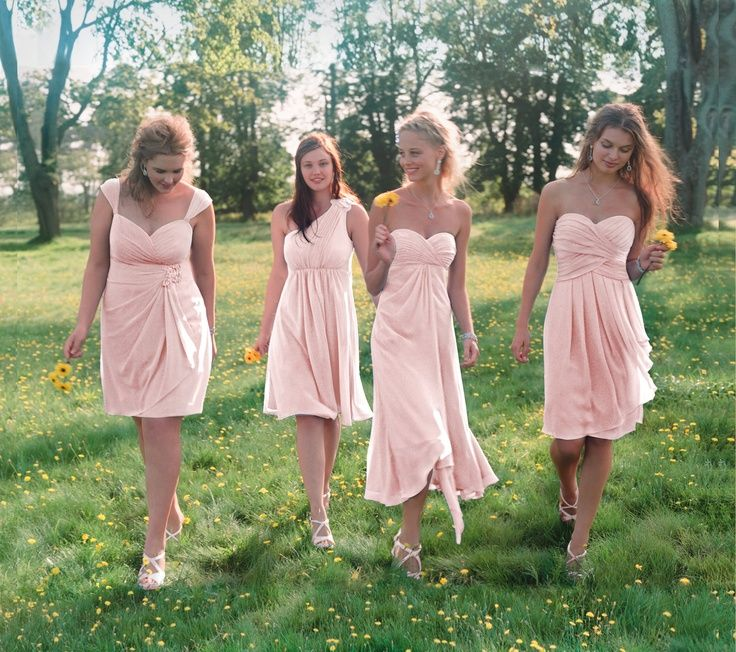 davids bridal bridesmaid chiffon dress petal - Google Search