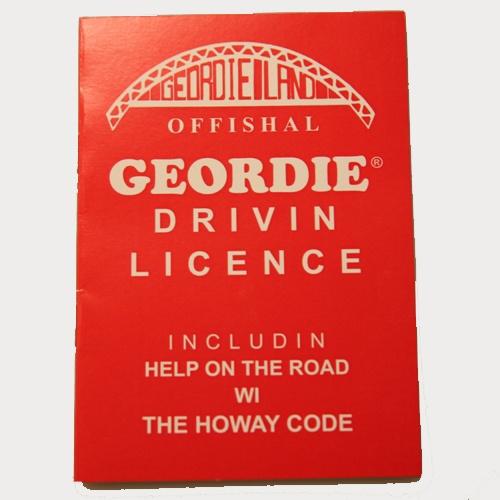 Offishal Geordie Drivin Licence