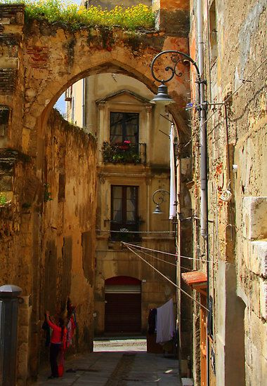 """Arch & Stair Series - Washing day"""" by Christine Oakley sparkles of life #LaMaddalena #Sardinia"""