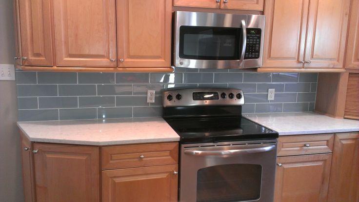 595 best images about backsplashes on pinterest kitchen for Large format glass tile
