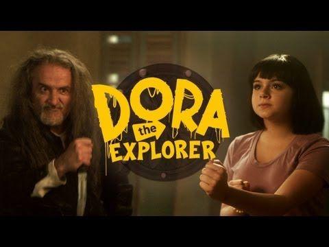 Check out this Dora the Explorer Parody!  Dora the Explorer and the Destiny Medallion (Part 1)- Spanish humor