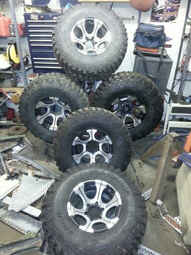 15 Inch Dick Cepeks With 33inch Dick Cepek Crusher Tires