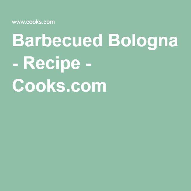 Barbecued Bologna - Recipe - Cooks.com