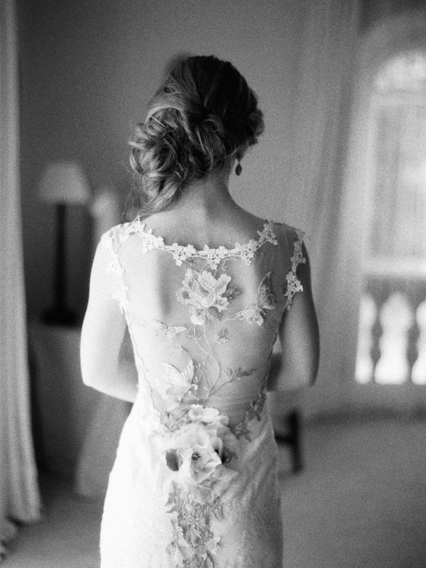 We're in love with this wedding dress and photo! contax 645   ilford 3200   claire pettibone   film   photo by www.romanceweddings.co.uk