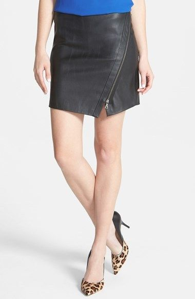 Two by Vince Camuto Faux Leather Moto Miniskirt Brand: Vince Camuto Store: Nordstrom Color: Black Availability: In Stock Price: $129.00