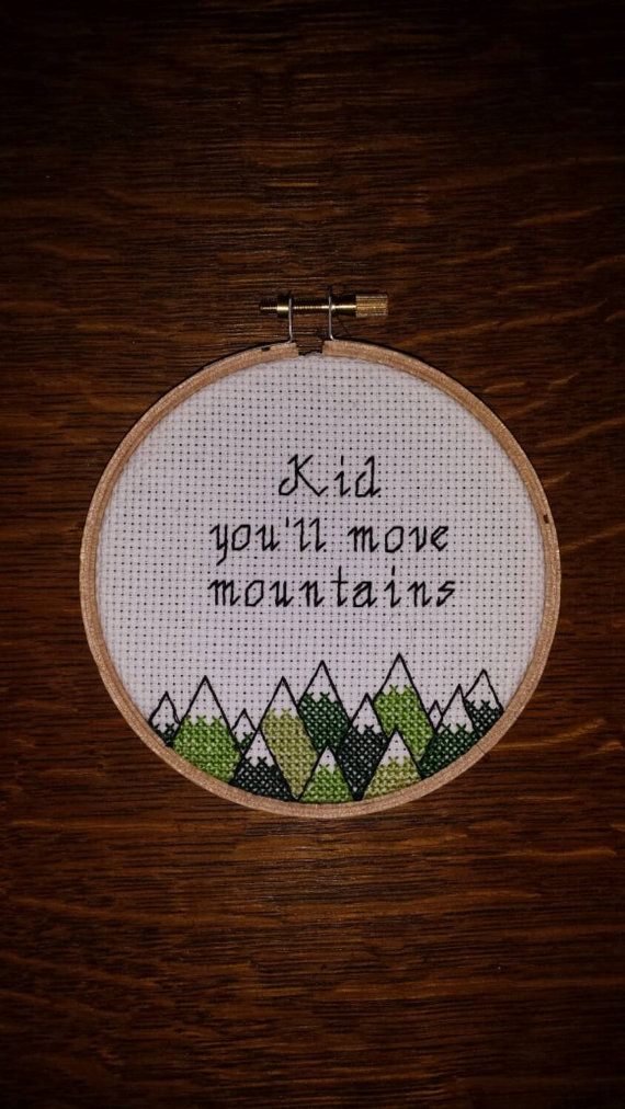Awww, love this. I have a friend i have to get this for! Hey, I found this really awesome Etsy listing at https://www.etsy.com/listing/219620901/kid-youll-move-mountains-cross-stitch