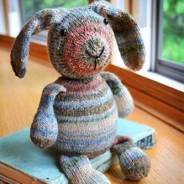 We have this OPAL SOCK BUNNY PATTERN BY SUSAN B ANDERSON in the shop with some great sock yarn.    Neat project for an Easter basket or new baby!