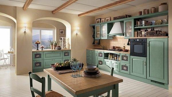 Más de 20 fotos de cocinas modernas para inspirarte: muebles verdes