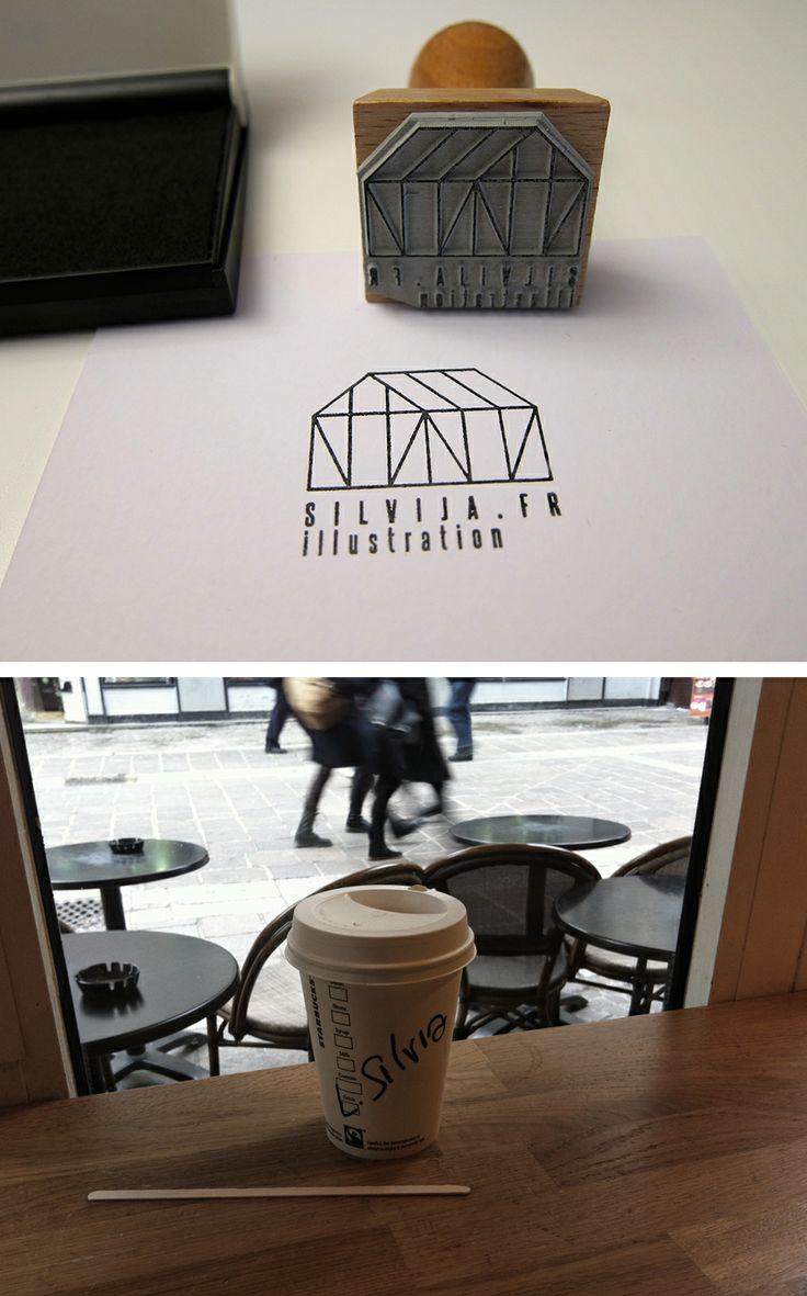Got my stamp done today! / #illustration #logo #coffee #Starbucks