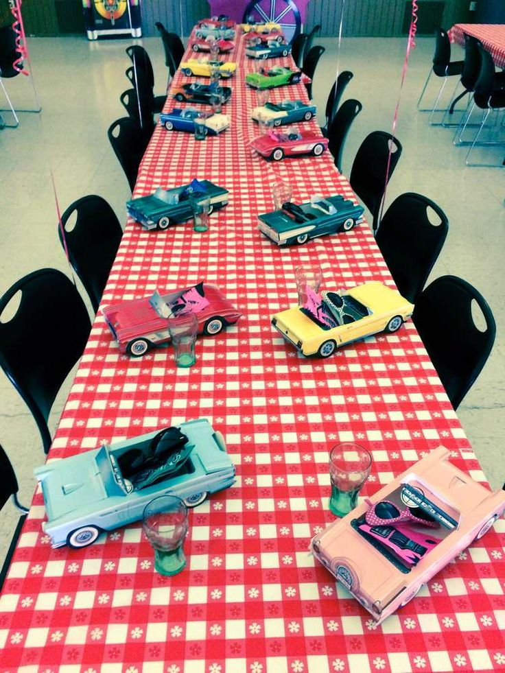 50's Diner Soda Shop Retro Birthday Party Birthday Party Ideas