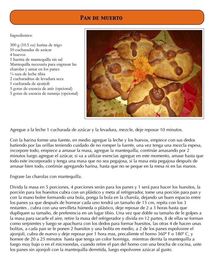 Recetas de comida mexicana y costura.: Pan de muerto