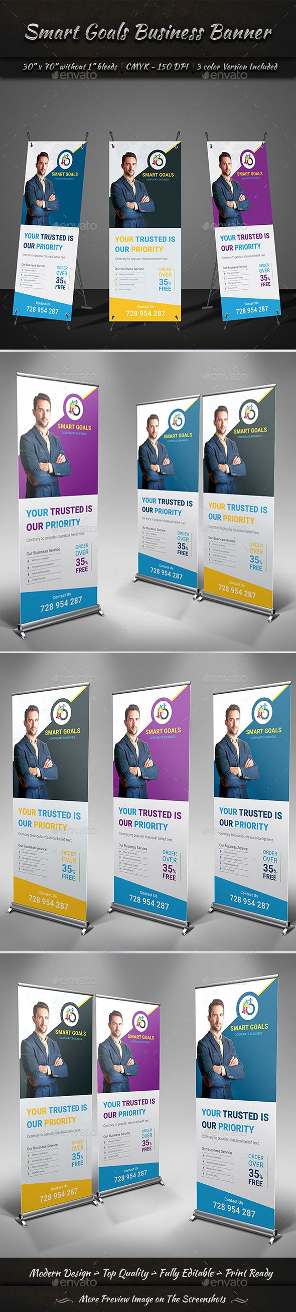 Design large banner in illustrator - Corporate Business Banner
