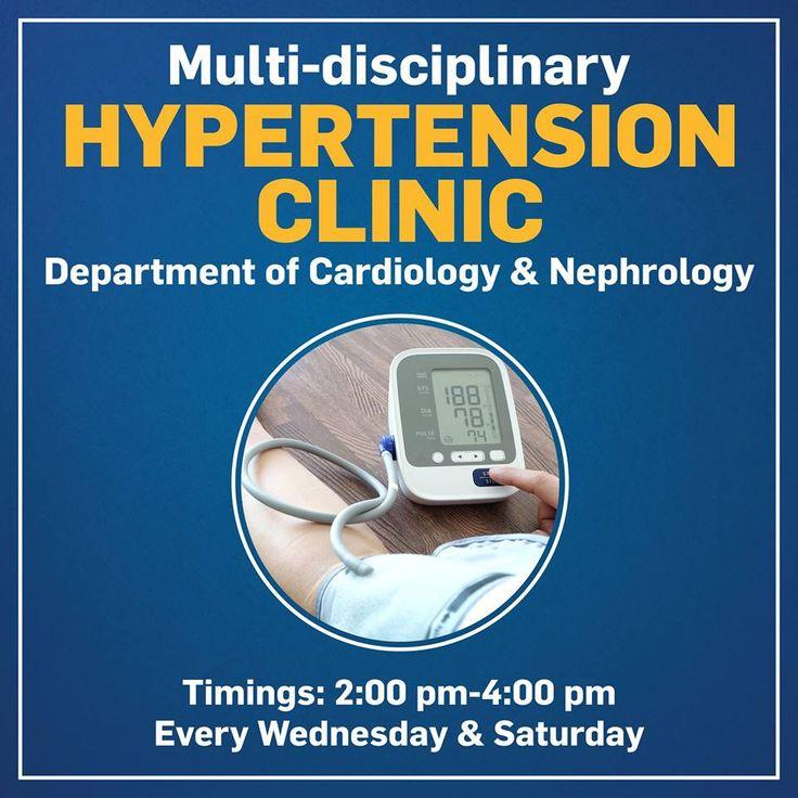 Multi-Disciplinary #Hypertension Clinic Every Wednesday & Saturday at Venkateshwar Hospital.