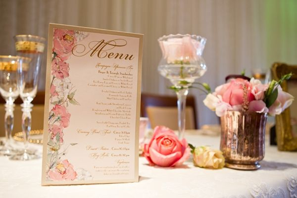 Pink & Antique Gold Glamorous Wedding Stationery by @Kristy Rice