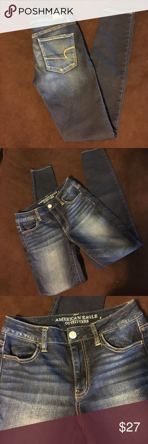 American Eagle Hi-Rise Jegging, SZ 6 long NWOT American Eagle Hi-Rise Jegging with stretch, Size 6 Long. Never worn, in excellent condition! American Eagle Outfitters Jeans Skinny