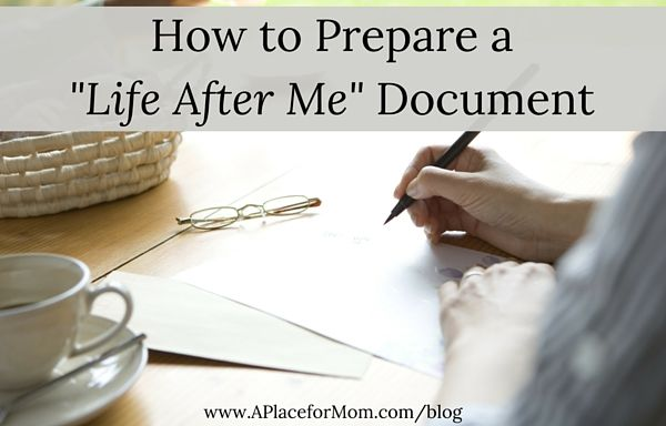 "With estate planning in place, many boomers are creating a ""Life After Me"" document which allows them to say goodbye to family and friends."