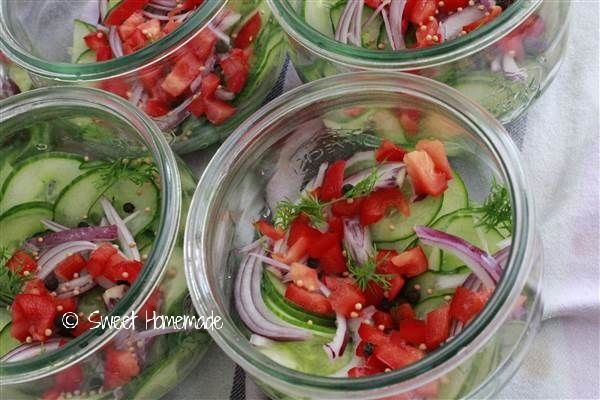 Komkommers in zoet zuur | Sweet Homemade