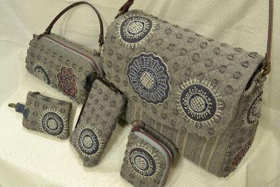 handmade corner: 0305(材料包/DIY Kit) - 古典mola蕾絲花提袋組 / Package of Classic MOLA Lace
