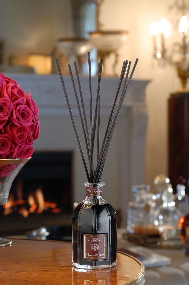 Diffusers are an excellent, low maintenance way of providing continuous fragrance in any space. They are long-lasting and come in a variety of sizes to suit small cloakrooms through to the biggest hallways || Image courtesy of Dr Vranjes