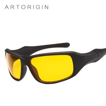 Brand ARTORIGIN Hot Sale Night Driving glasses Anti Glare Glasses For Safety Driving Sunglasses Yellow Lens Night Vision Goggles  Price: 3.96 USD