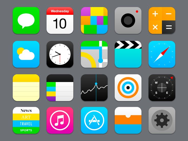 new iOS7 icons design