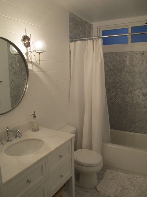 small bathroom redo.  bathrooms  Pinterest