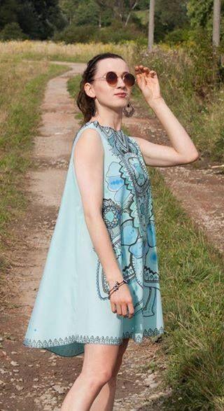 dress designed and made by Beata Janiga