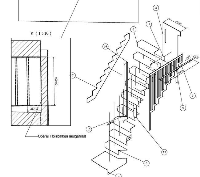 metalltreppe mit stuetzfunktion kueche 05