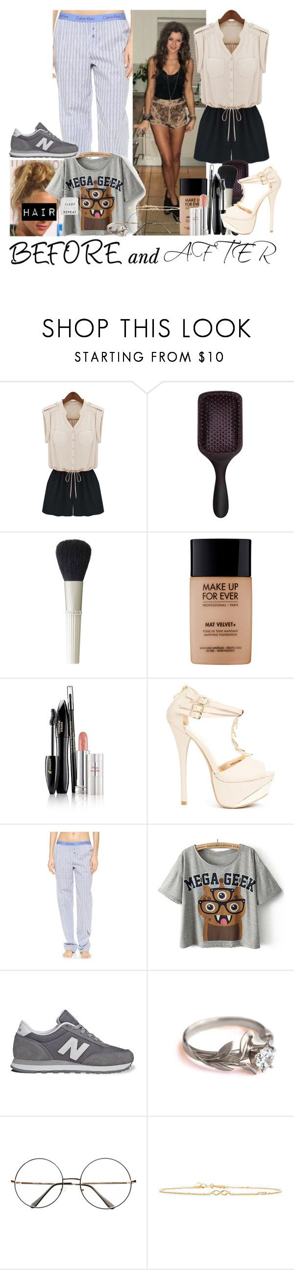 """""""Sans titre #152"""" by faanfic-1d ❤ liked on Polyvore featuring Calder, DIVA, Paul & Joe, MAKE UP FOR EVER, Lancôme, 2b bebe, Calvin Klein Underwear, New Balance, Sydney Evan and River Island"""