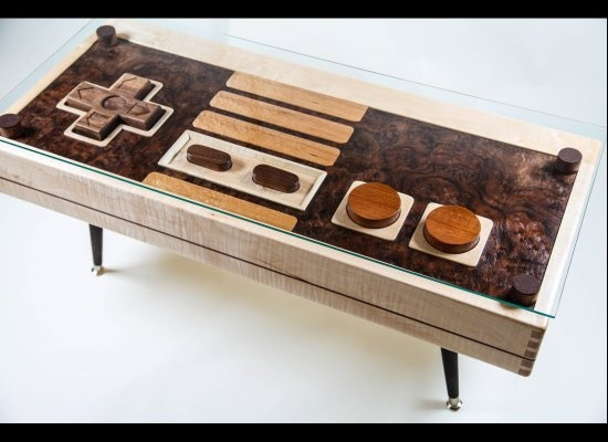 #Nintendo Controller Coffee Table Doubles As Functional Controller: Control Tables, Games Rooms, Coffee Tables, Nintendo Control, Videos Games, Memorial Control, Memorial Tables, Nes Control, Nintendo Nes