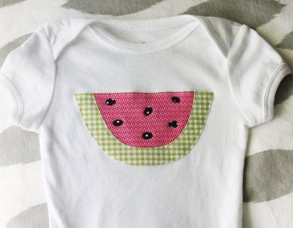 Watermelon Applique Onesie for 3-6M