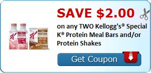 New Coupon!  Save $2.00 on any TWO Kellogg's® Special K® Protein Meal Bars and/or Protein Shakes - http://www.stacyssavings.com/new-coupon-save-2-00-on-any-two-kelloggs-special-k-protein-meal-bars-andor-protein-shakes-2/