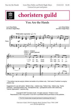 You Are the Hands (Mothers Day - combined choirs?)