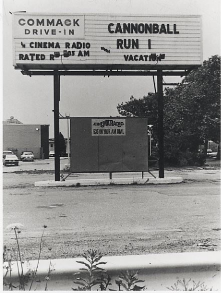 Commack Drive -In....the RKO movie theater was in front - it was a twin theater - long before the Multi-plex era.  Candlelight Diner is still there while this are is now a Target Shopping Center