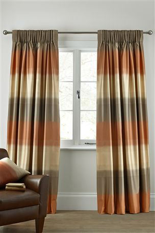 Buy Orange Luxe Ombre Orange Pencil Pleat Curtains from the Next UK online shop