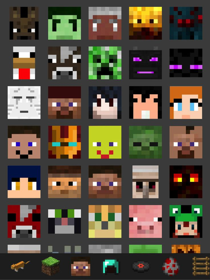 all+minecraft+characters | Back > Minecraft Img For > Minecraft Characters Faces