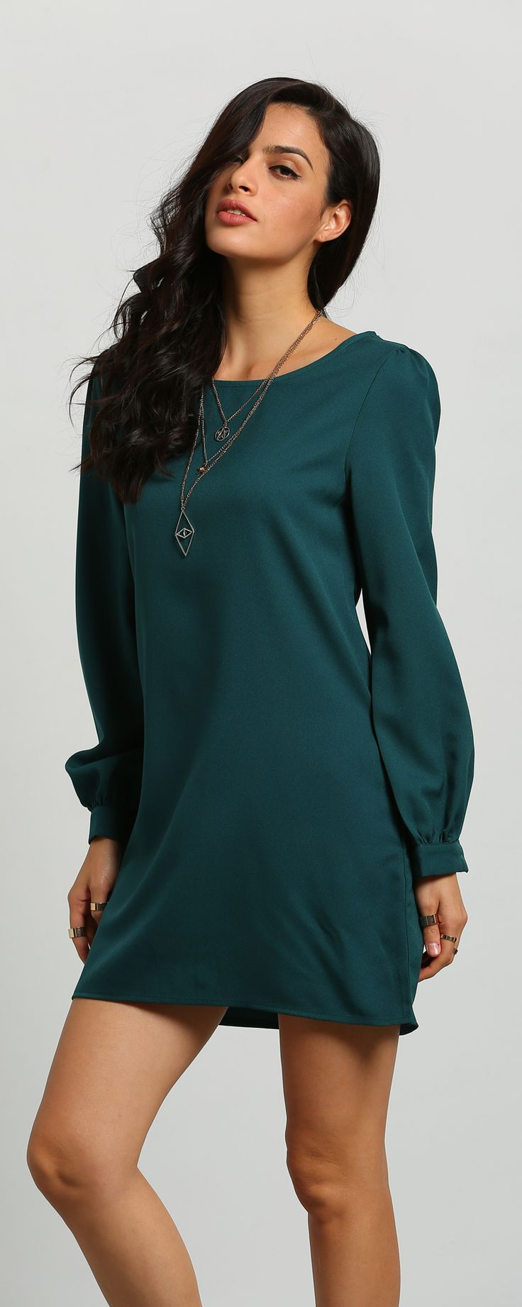 Perfect Situation Long Sleeve Casual Dress at m.shein.com