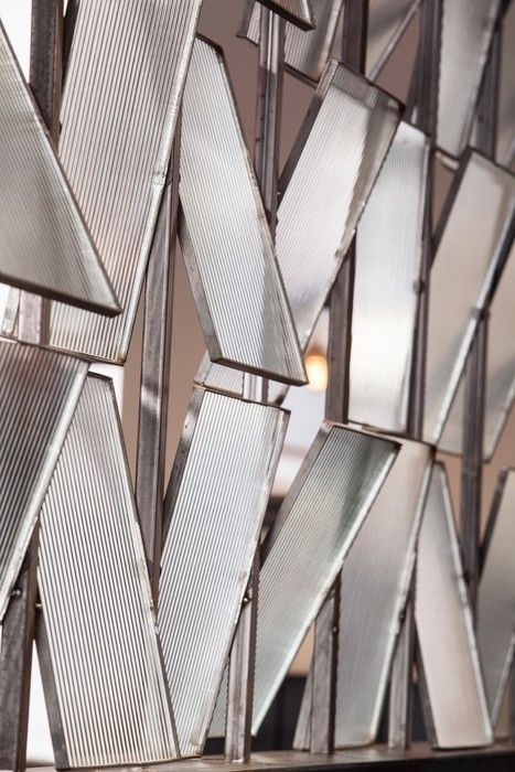 Four-by-Two Design: fluted glass pivoting window panes, Chop House, Edinburgh