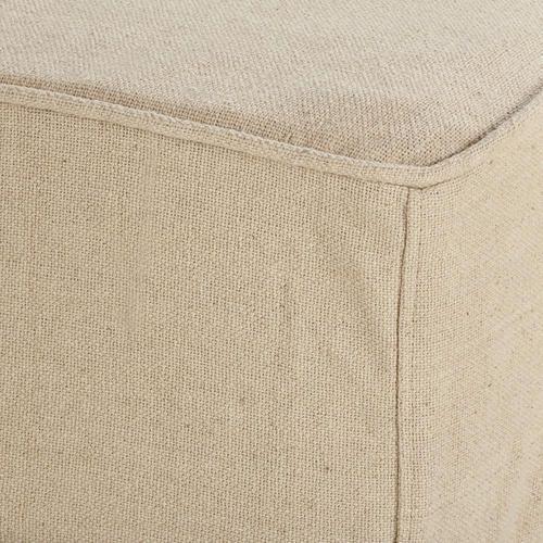 BURLAP DAYBED TWIN MATTRESS COVER $69.99 X 2  Add even more charm and comfort to daybeds with this irresistible burlap mattress cover. Despite its rough-hewn facade, this Burlap Daybed Twin Mattress Cover is wonderfully touchable and nicely priced. Pile on your favorite pillows for a harmonious scene.  Burlap Daybed Twin Mattress Cover made of cotton/jute blend  Fits standard twin size daybed mattresses. Dry clean or machine wash separately cold, gentle cycle. Tumble dry low. Made in India