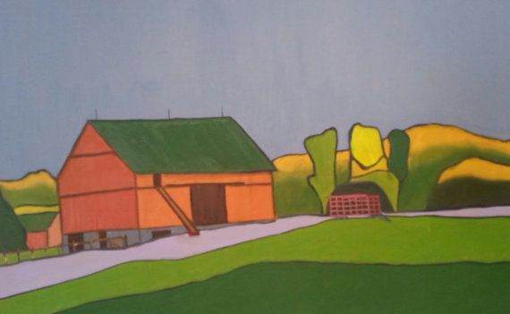 2475 Creemore Barn by Creemoreartist on Etsy
