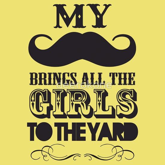 """Mustache"" T-Shirts & Hoodies by deerokone | Redbubble"