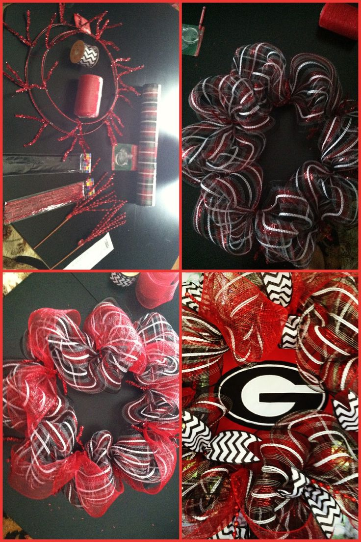 DIY Georgia Bulldog wreath