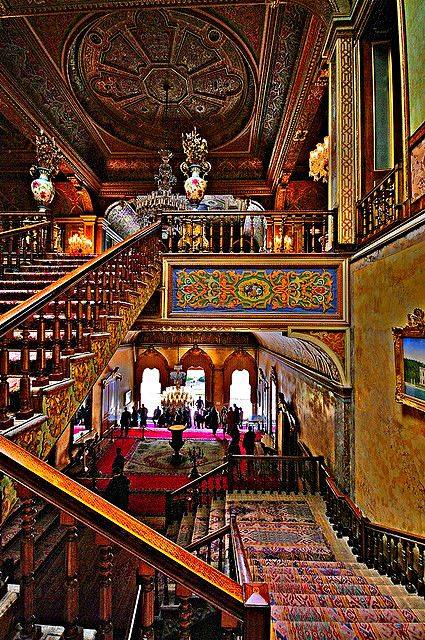 """loveisspeed.......: The Beylerbeyi Palace Beylerbeyi meaning """"Lord of Lords"""" is located in the Beylerbeyi neighbourhood of Istanbul, Turkey at the Asian side of the Bosphorus. An Imperial Ottoman summer residence built in the 1860s, it is now situated immediately north of the 1973 Bosphorus Bridge .Beylerbeyi Palace was commissioned by Sultan Abdülaziz (1830–1876) and built between 1861 and 1865 as a summer residence and a place to entertain visiting heads of state. Empress Eugénie of…"""